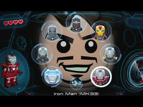 LEGO Marvel's Avengers (Vita) - All Playable Iron Man Suits Unlocked