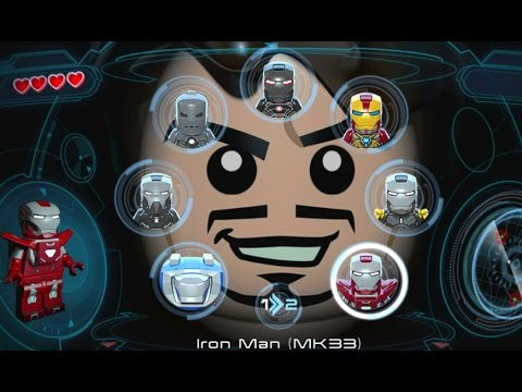 LEGO Marvels Avengers (Vita) - All Playable Iron Man Suits Unlocked