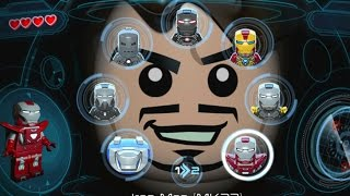 LEGO Marvel's Avengers (Vita) - All Playable Iron Man Suits Unlocked (Showcase)