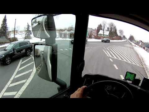 POV Drive - Scania R450 - Snowy Polish highway