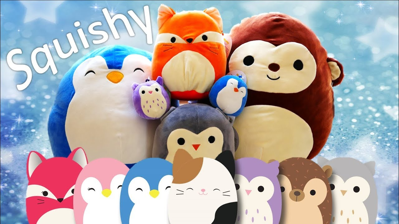 Squishy Squooshems Cuddle Plush Pillow : Squishmallows Collection - Squishy and Soft Plush Animals Review - YouTube
