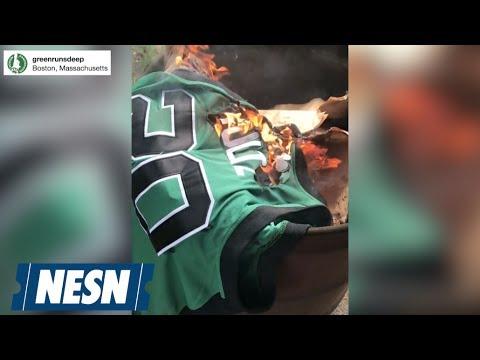 Celtics Fans Burn Markelle Fultz Jersey - YouTube c04e021e9