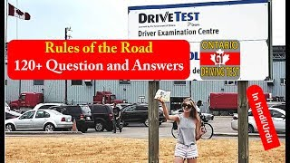 Ontario G1 Test:Rules of the Road 120+ Question and Answers (in HINDI/URDU) Part 1
