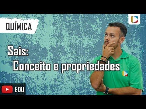 Química - Funções inorgânicas: Sais - conceito e propriedades