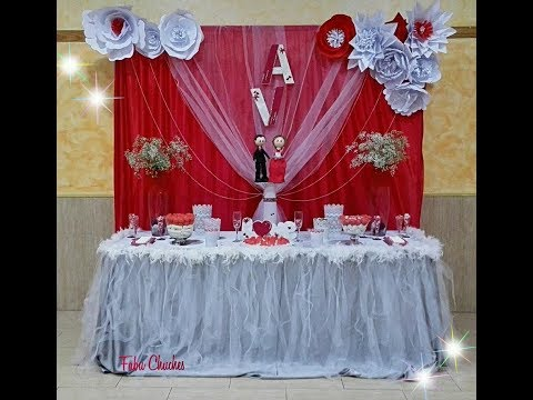 Mesa decorada para boda youtube for Mesas decoradas para bodas