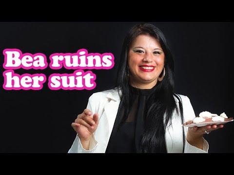 Beas ruins her suit