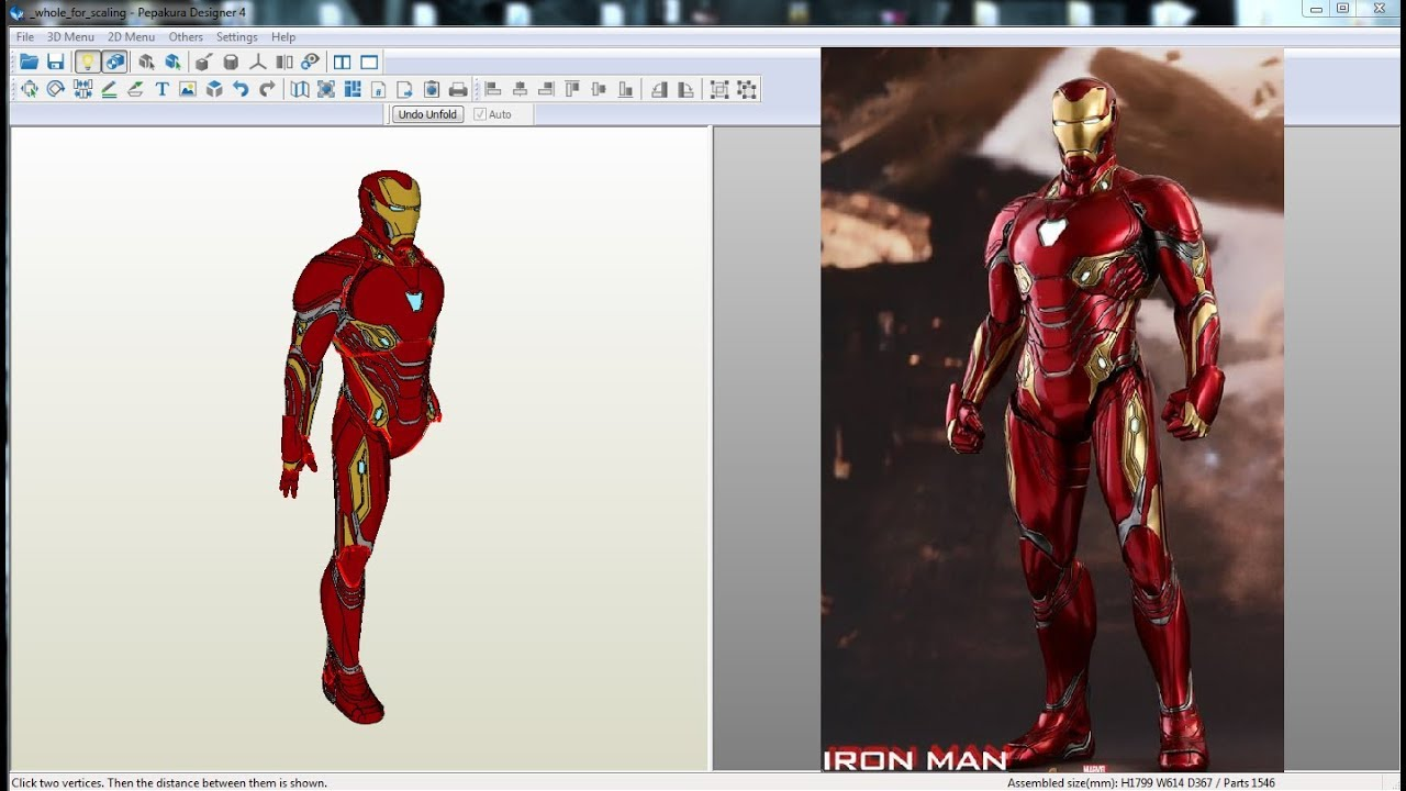 Papercraft pdo file template for iron man mark 2 full armor for Iron man suit template