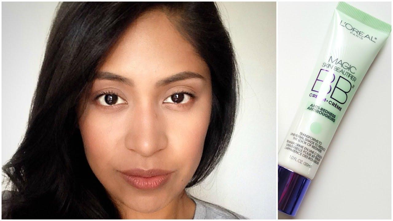 DEMO | L'oreal Magic Skin Beautifier BB Cream Anti-Redness - YouTube