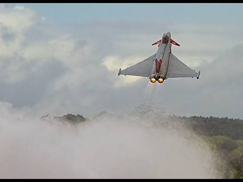 Awesome Performance vertical Takeoff 2015 RAF Typhoon Display Team