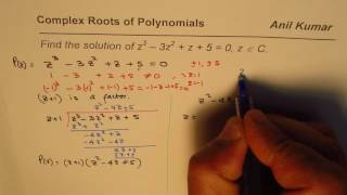 SOLUTION of the equation is z = -1, 2 + i and 2 - i The final Facto...