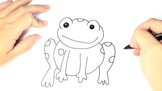 Cómo dibujar una Rana para niños paso a paso | Dibujo de Rana Fácil