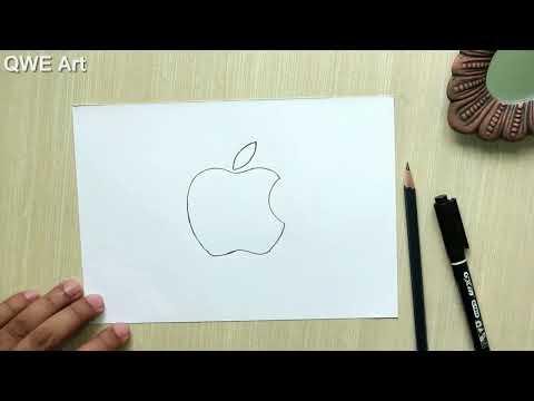 easy-to-draw-logos-🍎-logo-drawing---apple/-iphone-logo-|-sketch-logo-|-draw-logos-from-memory