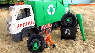 Assembling with Unboxing Garbage Truck Toys