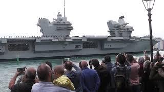HMS Queen Elizabeth arrives @ Portsmouth