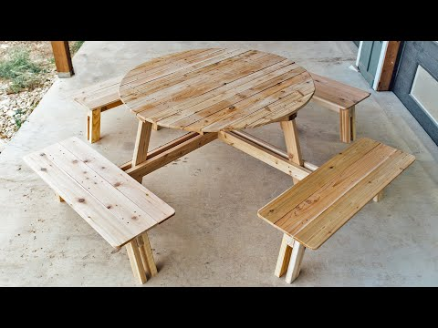 How to Build a Round Picnic Table with Benches
