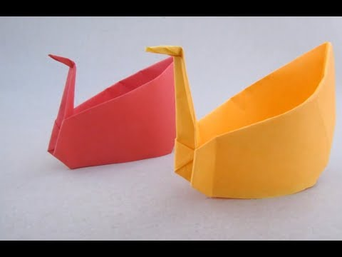 Swan Container Craft | How to & Origami | Cindy DIY