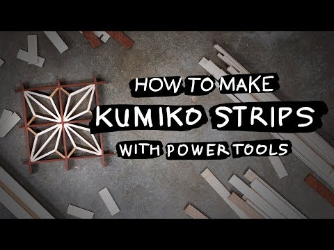 How To | Make Kumiko Strips with Power Tools – DIY Woodworking Tutorial