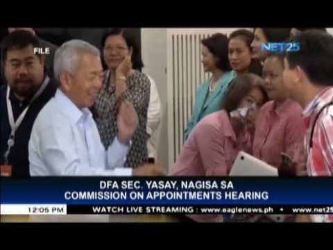 Commission on Appointments rejects Yasay's appointment