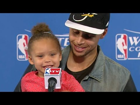 Stephen Curry's Daughter Riley Steals the Show Again at Press Conference