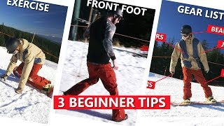 3 First Day Snowboarding Tips - Beginner Snowboard