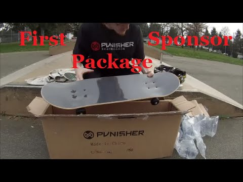 First Sponsor Package Unboxing Punisher Skateboards Test And Review