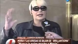 Carmen Barbieri dijo que quiere seguir con Brillantísima sin Moria