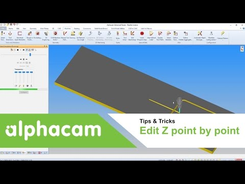 Edit Z point by point | Alphacam