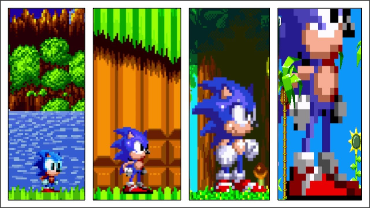 Baby Sonic- Adult Sonic- Giant Sonic- Colossal Sonic
