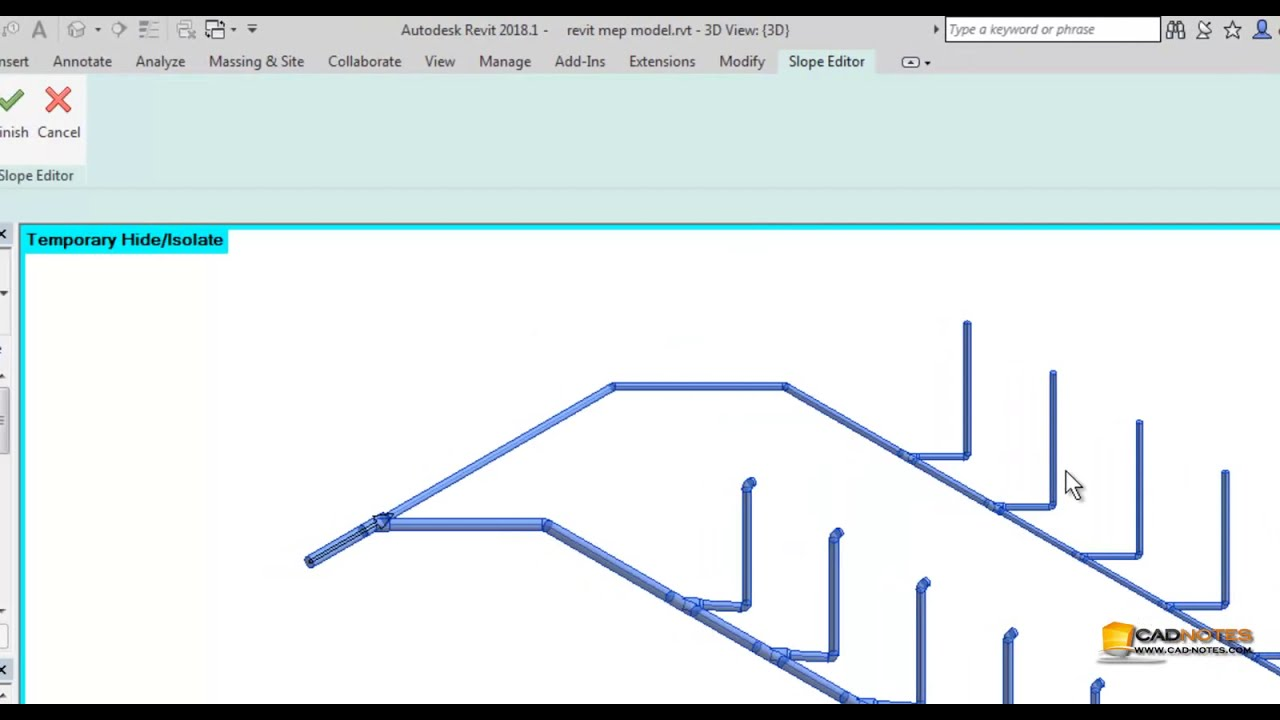 Revit MEP tutorial: Modifying Route | CADnotes