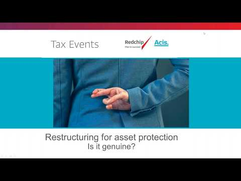 Restructuring for asset protection: Is it genuine?