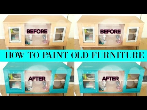 How To Paint Old Furniture With Furniture Paint