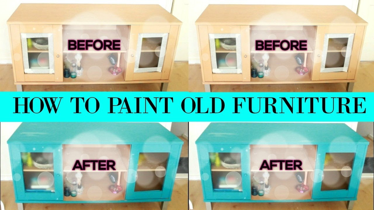 How To Paint Old Furniture With Diy Room Decor