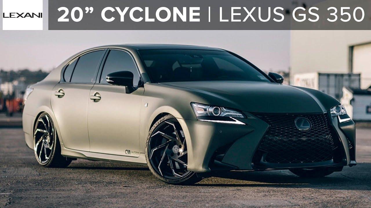 Matte Lexus GS 350 On 20 Lexani Cyclone Wheels YouTube