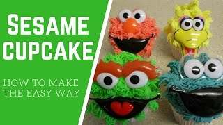 Sesame Street Cupcake Tutorial How to make the easy way!