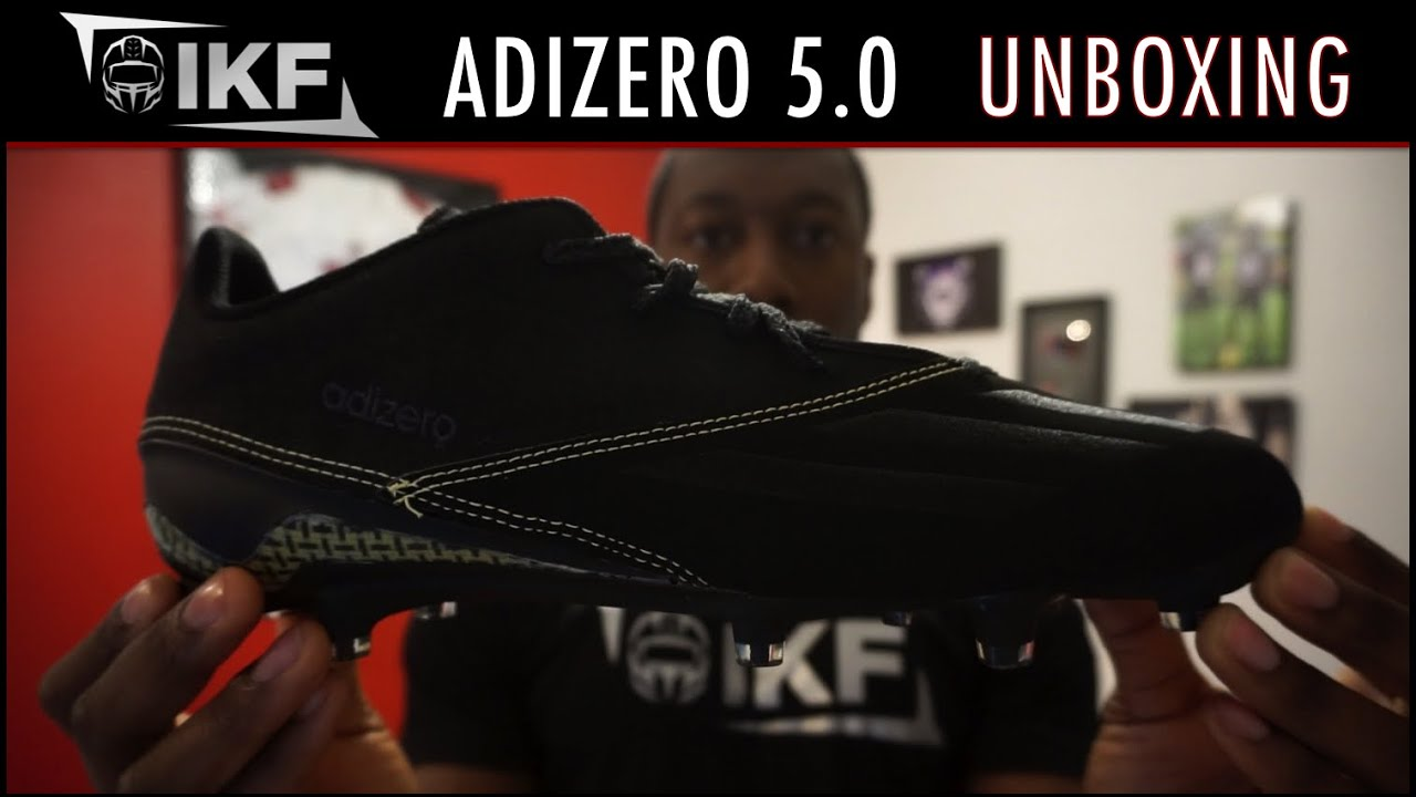 adidas 5 star football cleats. adidas adizero 5-star 5.0 x kevlar football cleat unboxing - ep. 271 5 star cleats