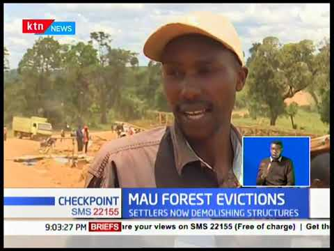 Mau residents demolish structures as evictions begin