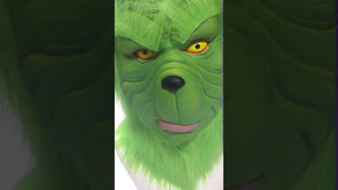 Xcoser The Grinch How the Grinch Stole Christmas The Movie Cosplay Full Head Green Grinch Mask & Xcoser The Grinch How the Grinch Stole Christmas The Movie Cosplay ...