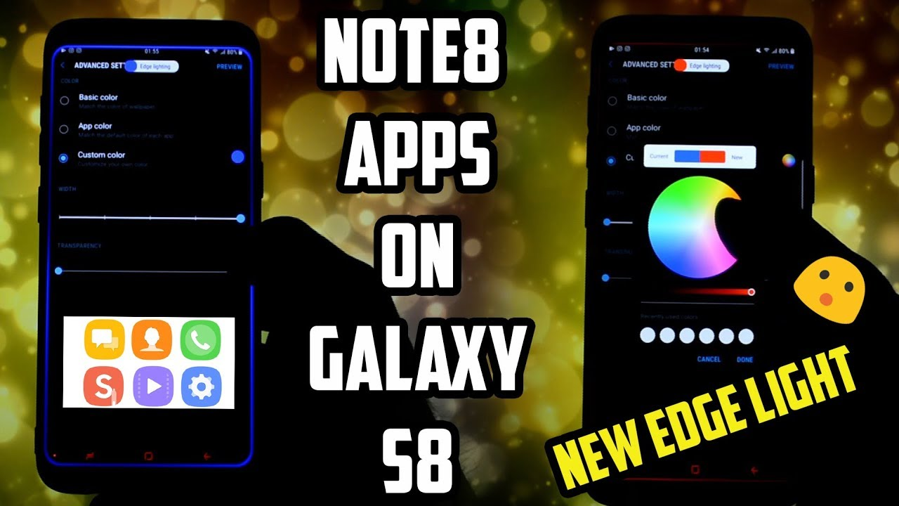 REPLACE Galaxy S8 APPS with NOTE8 ones! | NEW EDGE LIGHTNING! | NOTE8 APPS  PORT