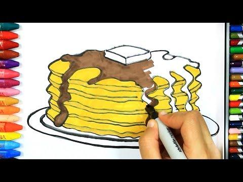Как нарисовать тарелку с блинами