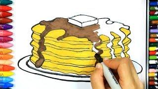 Как нарисовать блин 🍰   Раскраски детей HD   Рисование и окраска   Рисование для детей