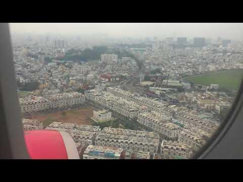 베트남 비행기 비엣젯(Viet jet) 착륙 영상