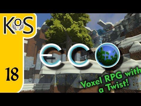 Eco Ep 18: LUMBERING ALONG - Voxel Builder/RPG - Let's Play, Gameplay