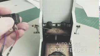 Short demo of the card feeder for a trading card scanner, analyzer and sorter