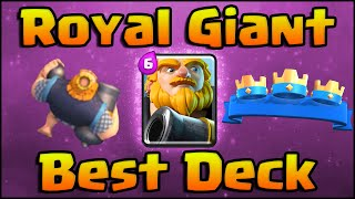 Clash Royale - Best Royal Giant Deck (No Legendary) and Strategy for Arena 7 and Arena 8