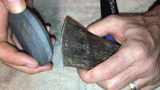 How To Sharpen An Axe Or Hatchet Blade Quick Simple Instructions