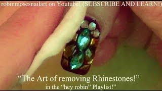 How to Remove Glitter and Rhinestones - Nail Art