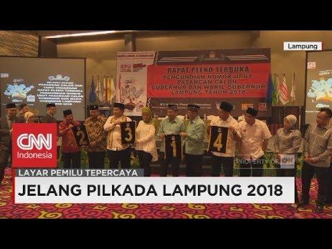 Hasil Undian Nomor Urut Pilkada Lampung 2018