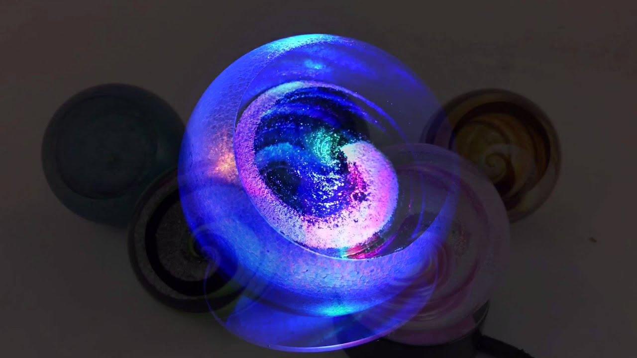 galaxy globes from celebration ashes at glass eye studio - Glass Eye Studio