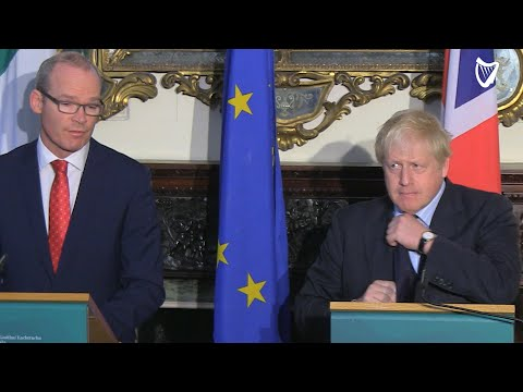 VIDEO: Boris Johnson visits Simon Coveney in Dublin... and they're already disagreeing in early m...