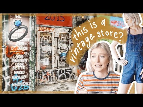 Thrift With Me In Montreal! SKETCHIEST VINTAGE STORE   Engagement Story